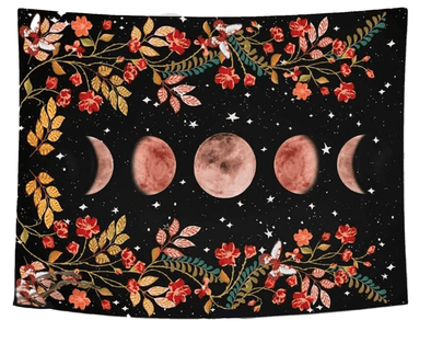 Lunar Flowers Tapestry