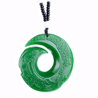 Jade Spiral Necklace