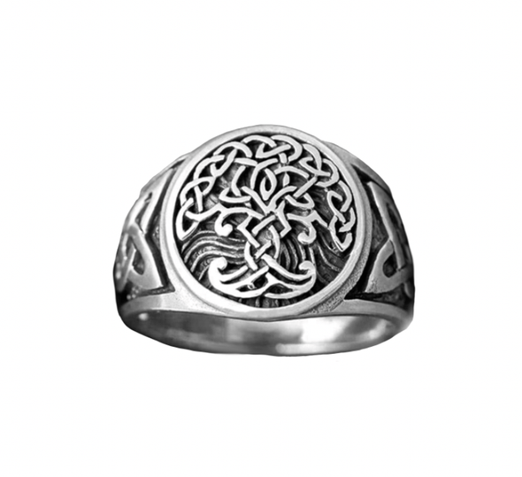 Celtic Knot Yggdrasil Ring