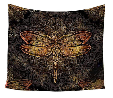 Fire Dragonfly Tapestry
