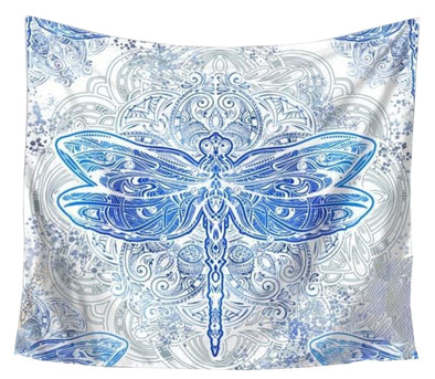 Ice Dragonfly Tapestry