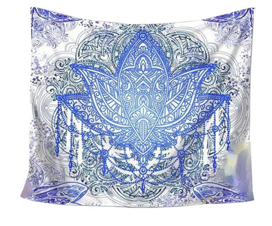 Ice Lotus Tapestry