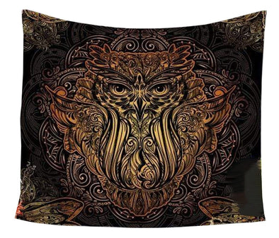 Fire Owl Tapestry