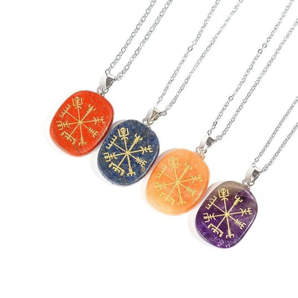 Nordic Compass Crystal Pendant & Necklace