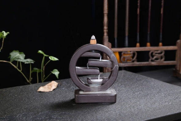 Geometric Falls Incense Burner