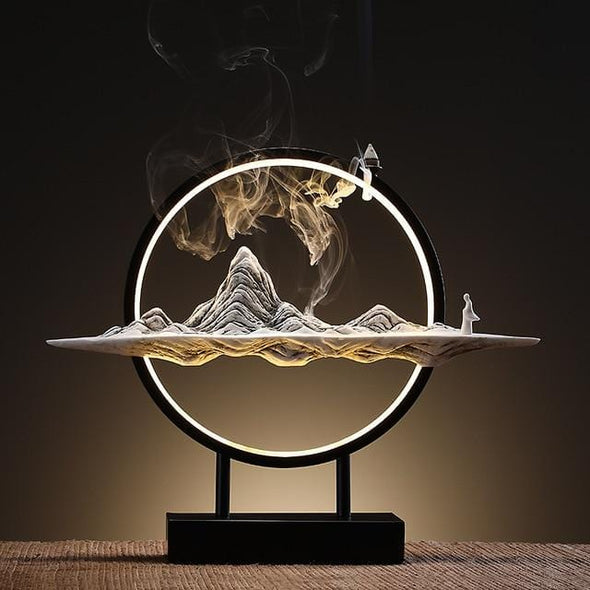 Lighted Urban Meditation Incense Holder