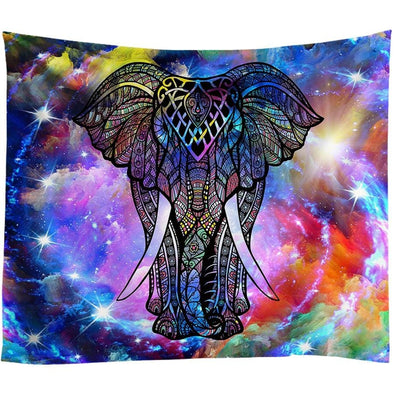 Astral Elephant Tapestry
