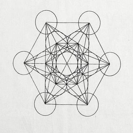 Geometric Cotton Crystal Grid