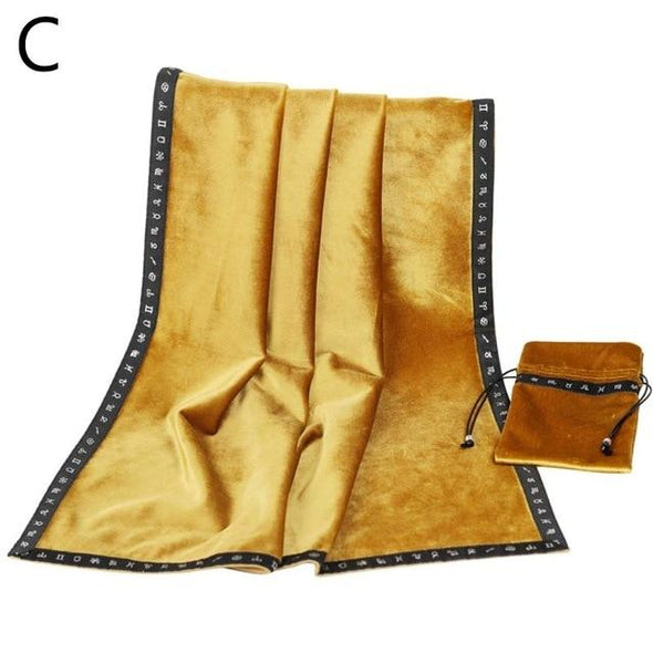 Golden Insights Tarot Cloth