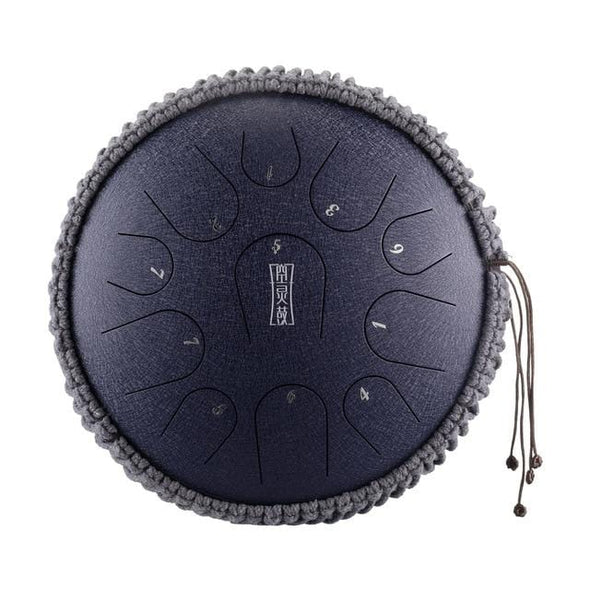 12 Inches Portable Steel Tongue Drum 11 Notes C Key Handpan Drum Travel Drum Percussion Instrument For Yoga Meditation Beginner