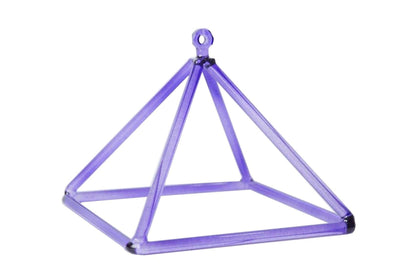 "8"" Purple Crystal Singing Pyramid"