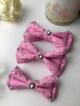 Load image into Gallery viewer, Powder pink Blinged out rhinestones, Cat and Dog Bowtie