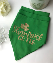 Load image into Gallery viewer, Shamrock Cutie, Dog and Cat Glammed Valentine's Bandana