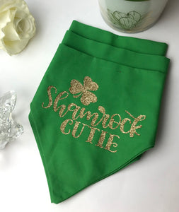 Shamrock Cutie, Dog and Cat Glammed Valentine's Bandana