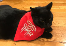 Load image into Gallery viewer, Blinged out, Rhinestones Dog and Cat Glammed Bandana