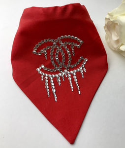 Blinged out, Rhinestones Dog and Cat Glammed Bandana