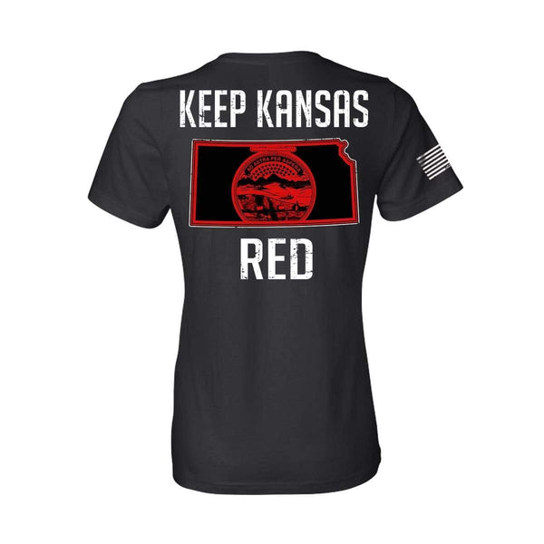 Keep KS Red State Flag Women's T-Shirt