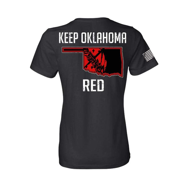 Keep OK Red State Flag Women's T-Shirt