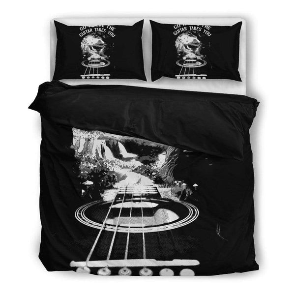 Go Where The Guitar Takes You (Version 3) Bedding Set