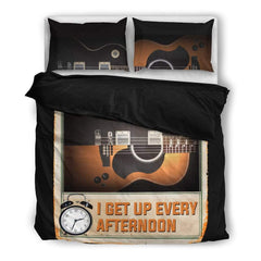 Guitar Is The Reason I Get Up Every Afternoon Bedding Set