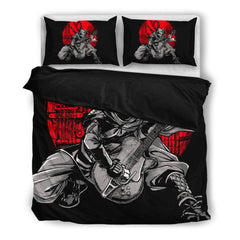 Ninja Playing Guitar Bedding Set