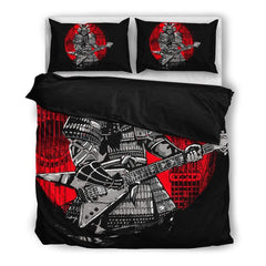 Samurai Playing Guitar Bedding Set