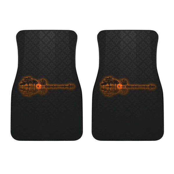 Guitar Sunset Landscape Car Mat