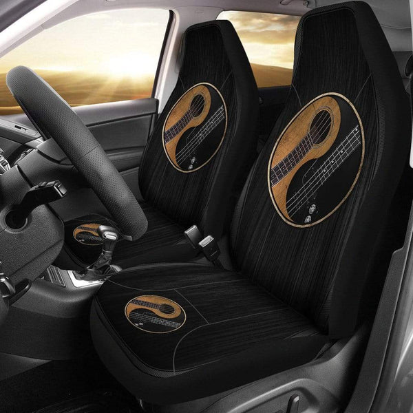 Yin Yang Bass Guitar - Car Seat Cover
