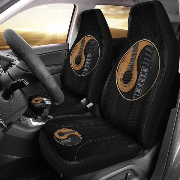 Yin Yang Guitar Car Seat Cover