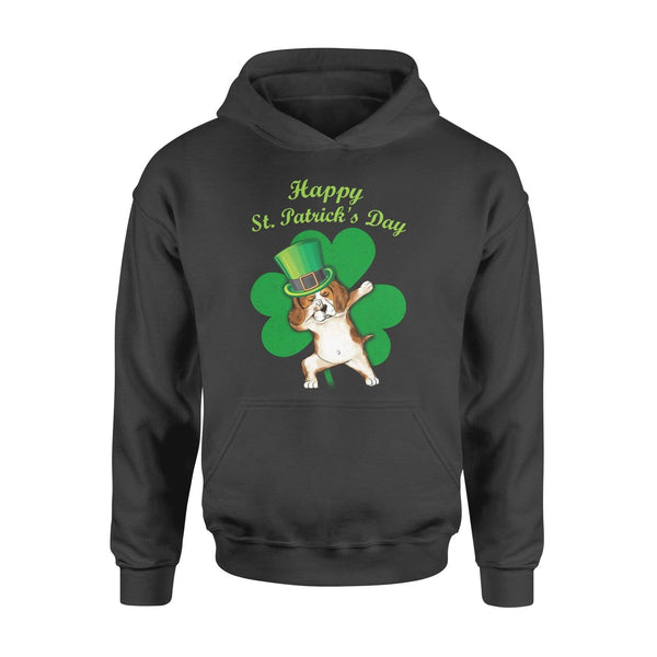 Funny St Patrick's day hoodie ideas for men women - Beagle dabbing