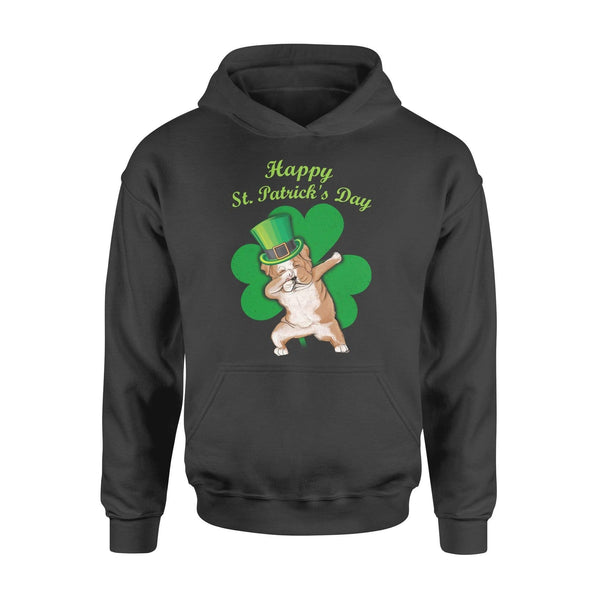 Funny St Patrick's day hoodie ideas for men women - Bulldog dabbing