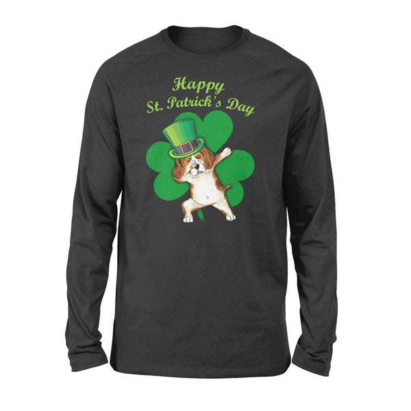 Funny St Patrick's day long sleeve ideas for men women - Beagle dabbing