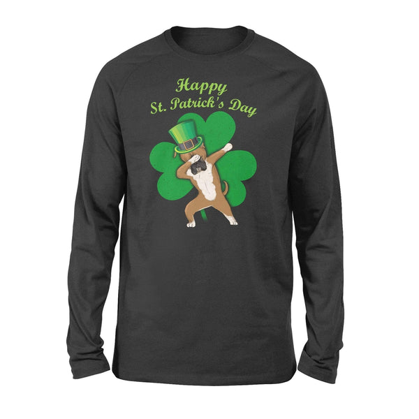 Funny St Patrick's day long sleeve ideas for men women - Boxer dabbing