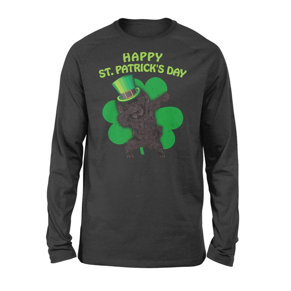 Funny St Patrick's day long sleeve ideas for men women - Newfoundland dabbing