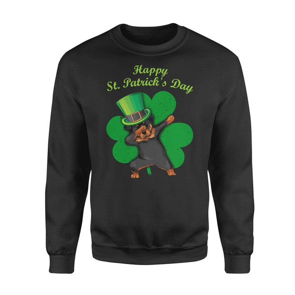 Funny St Patrick's day sweatshirt ideas for men women - Rottweiler dabbing