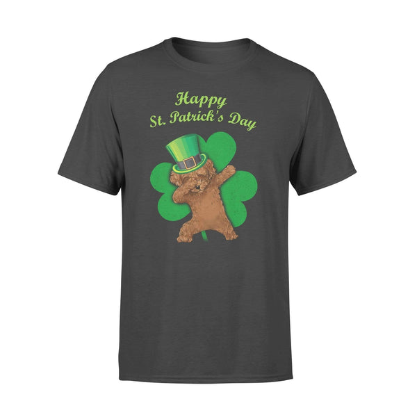 Funny St Patrick's day t-shirt tee ideas for men women - Poodle dabbing