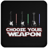 Choose Your Weapon Guitar Or Light Saber - Coaster
