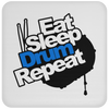 Eat Sleep Drum Repeat - Coaster