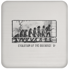 Evolution of the Guitarist - Coaster