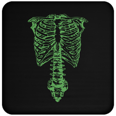 Spinal Tap Green Skeleton Nigel Tufnel Ribcage - Coaster