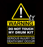 WARNING! Do Not Touch My Drum Kit - Coaster