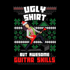 Ugly Christmas Guitar Skills - Unisex - Crewneck Sweatshirt - Small to 5XL