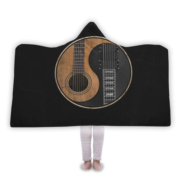 Yin Yang Guitar Hooded Blanket