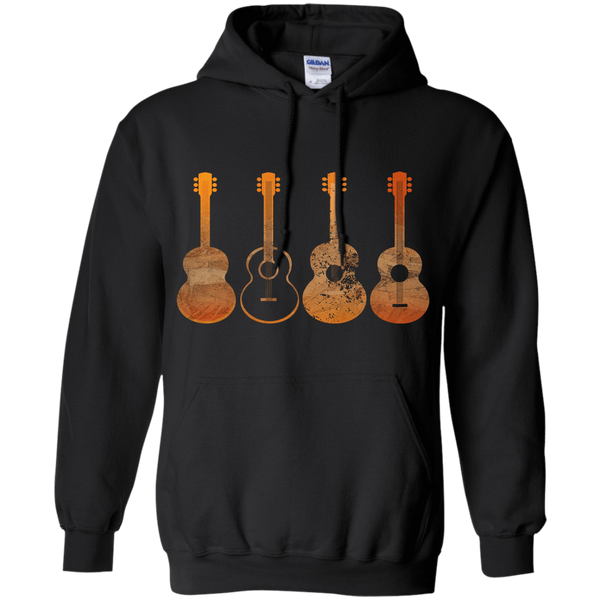 4 Guitar Print - Mens - Hoodie - Small to 5XL