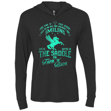 Barrel Racing - Smiling - Womens - Hoodie - Small to 2XL