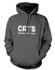 Cats. Because People Suck - Mens - Hoodie - Small to 5XL