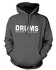 Drums. Because People Suck - Mens - Hoodie - Small to 5XL