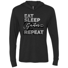 Eat Sleep Guitar Repeat - Womens - Hoodie - Small to 2XL