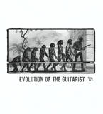 Evolution of the Guitarist - Mens - Hoodie - Small to 5XL