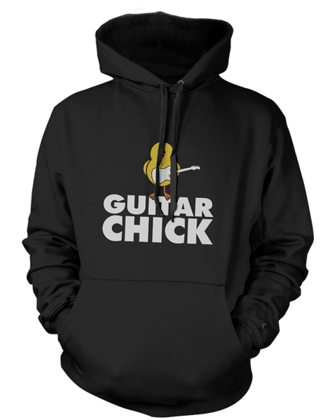 Guitar Chick - Mens - Hoodie - Small to 5XL